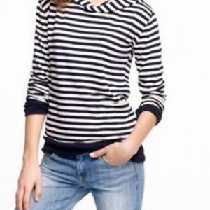 J. CREW Striped Ultra Knit Lineup Hoodie XS (0-2)